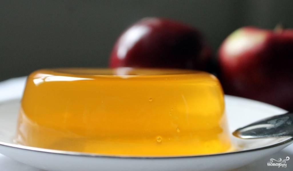 Желе из яблочного сока