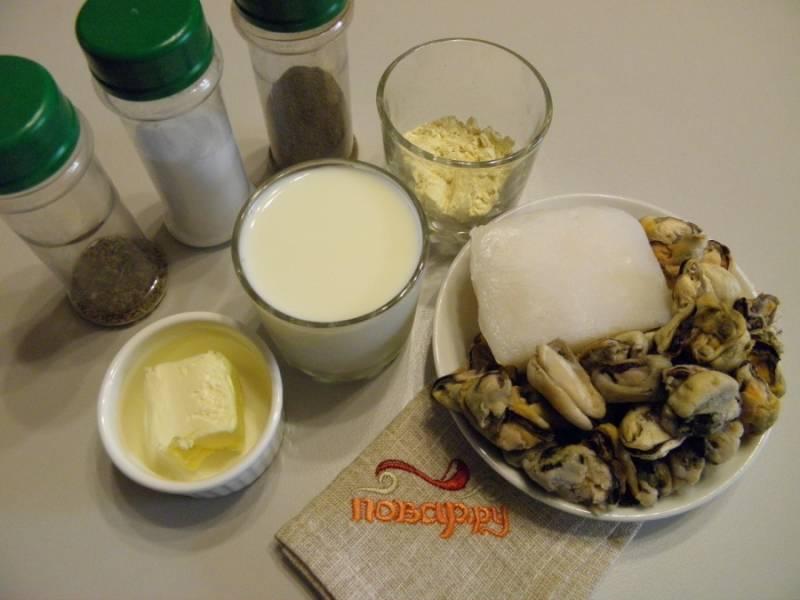 Морепродукты в сливочном соусе - пошаговый рецепт с фото на