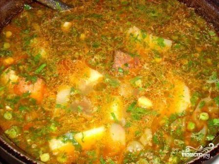 Шурпа из свинины в казане - пошаговый рецепт