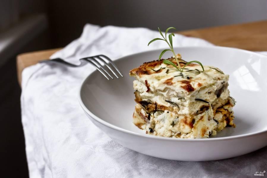 Пошаговый рецепт лазаньи курица с грибами фото