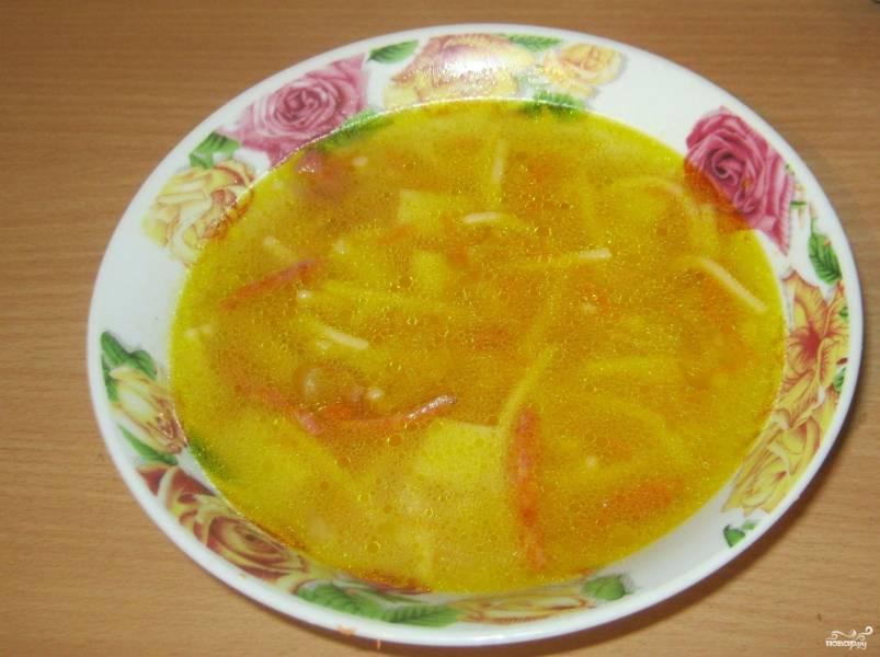 Вермишелевый суп без мяса