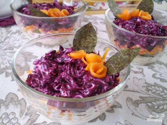 Вегетарианская селедка под шубой с нори