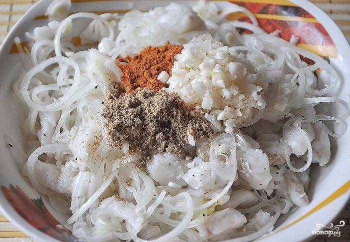 Рыба - Хе - по-корейски - пошаговый рецепт с фото на
