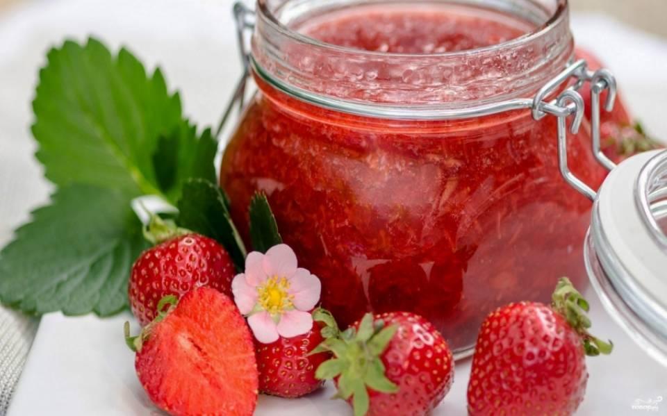 Варенье из шикарной ягоды клубники готово! Уже можно кушать и наслаждаться свежим вкусом. Приятного аппетита!