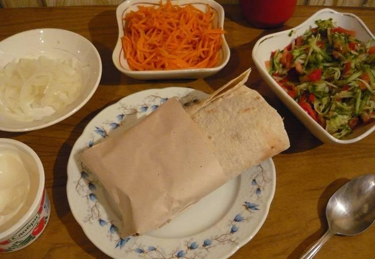 Хот-дог в лаваше - пошаговый рецепт