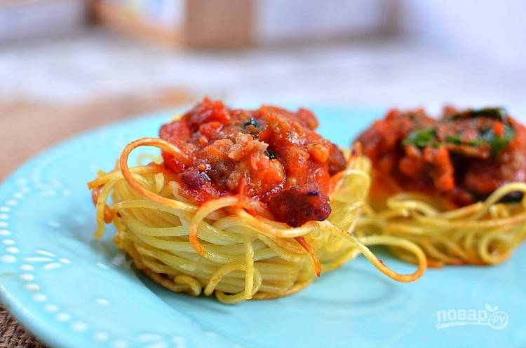 Фарш спагетти рецепт