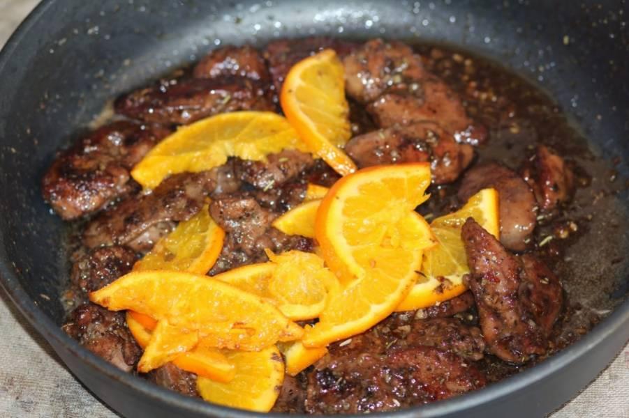 Печень с апельсинами рецепт с фото