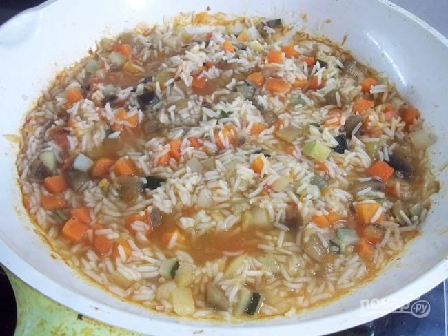 Вкусный рис с овощами - пошаговый рецепт