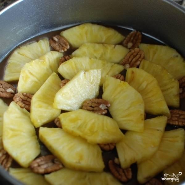 Ананасовый пирог с орехами пекан - пошаговый рецепт