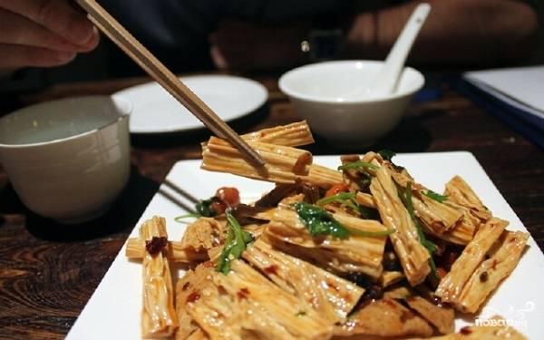 Салат со спаржей по-корейски