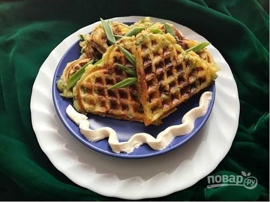 Постные картофельные вафли - пошаговый рецепт с фото на