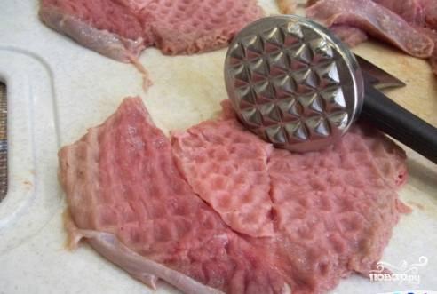 Мясо по-французски с грибами и сыром - пошаговый рецепт