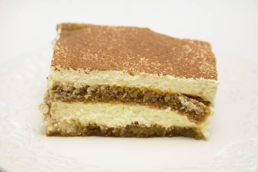 Рецепт тирамису в домашних условиях с печеньем
