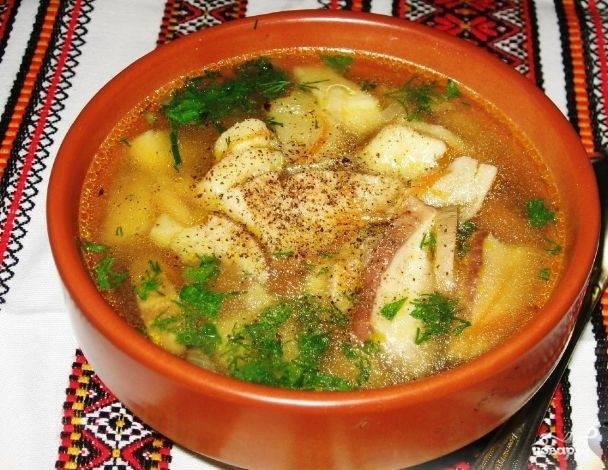 Суп с картофельными галушками