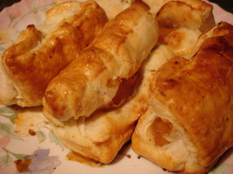 Слоеные пирожки с повидлом - пошаговый рецепт с фото на