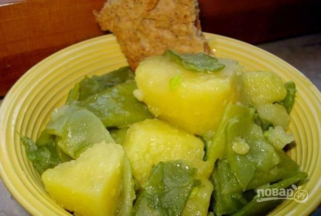 Зеленая фасоль с картофелем