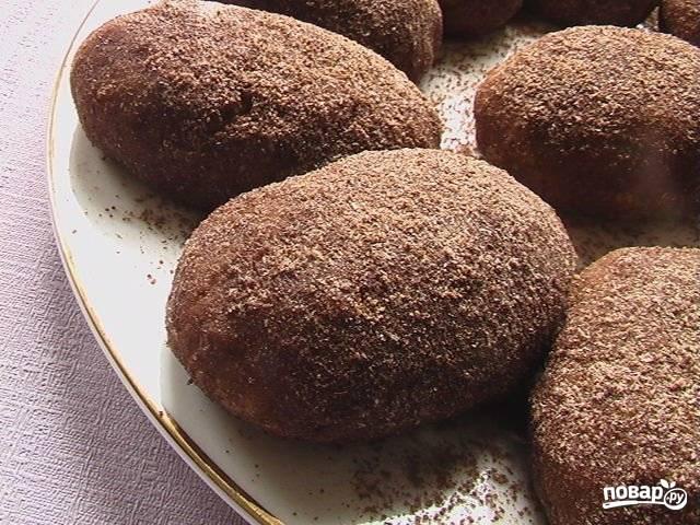 Рецепт шоколадной картошки из сухарей