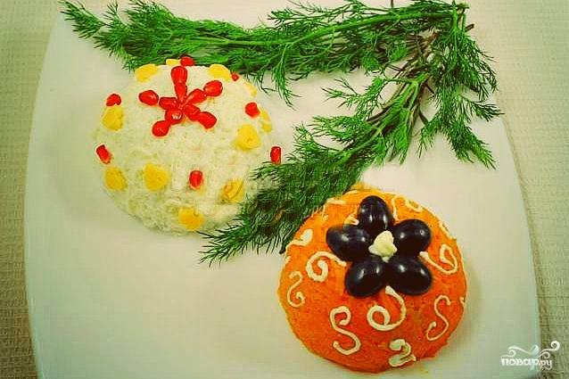 """Салат """"Новогодние игрушки"""""""