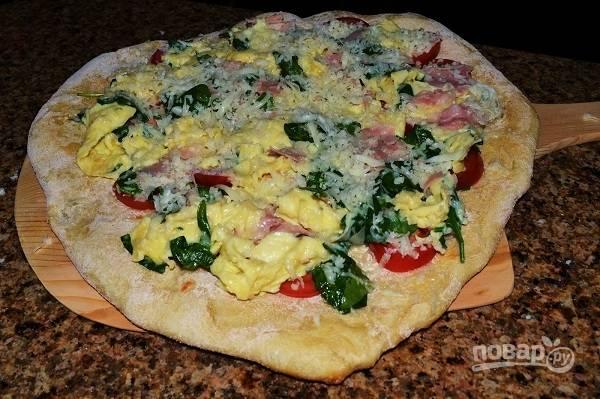 Пицца с сыром и ветчиной - пошаговый рецепт