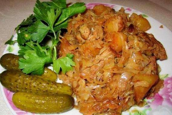 рагу с капустой и с мясом рецепт