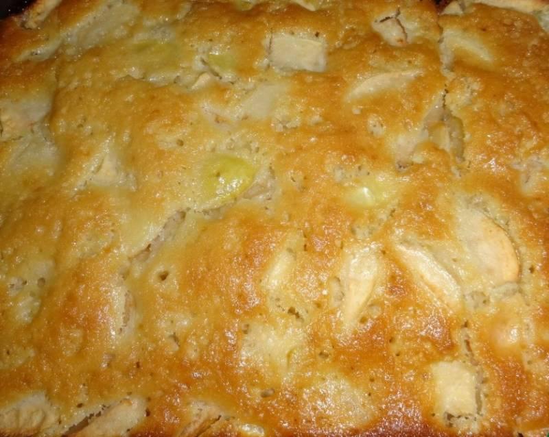 Рецепт яблочного пирога в духовке на кефире