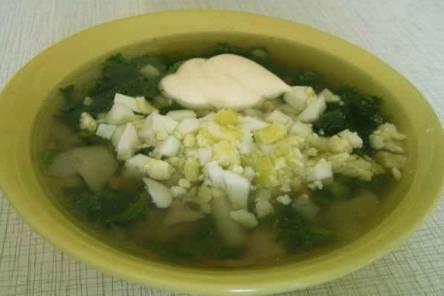 Супы с зеленью
