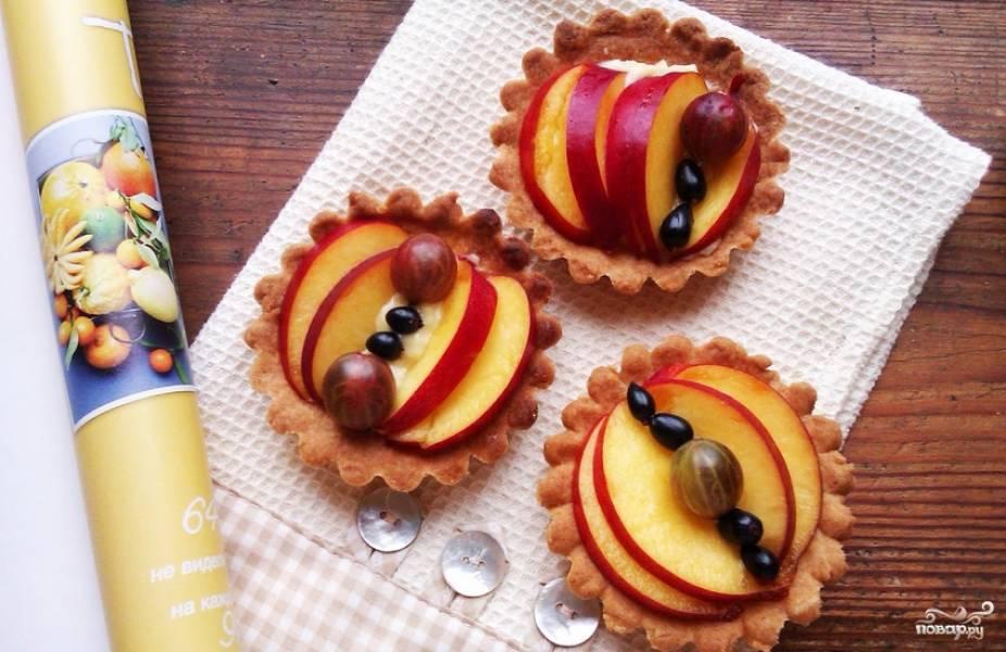 Тарталетки с фруктами - пошаговый рецепт с фото на