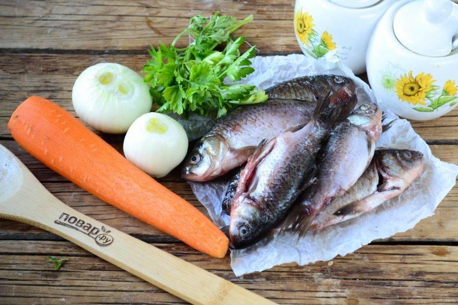 Карась, запеченный в рукаве в духовке - пошаговый рецепт с фото на