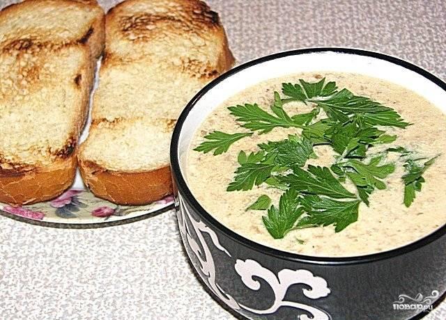 Суп-пюре из белых грибов в блендере