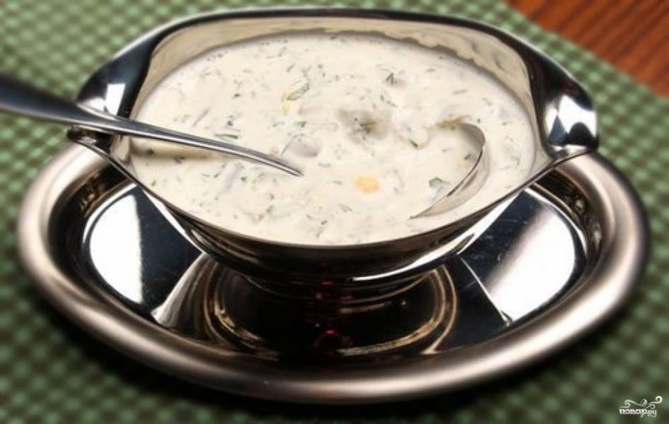 Сметанный соус для семги