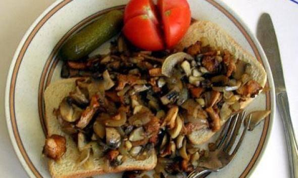 Сэндвич с грибами