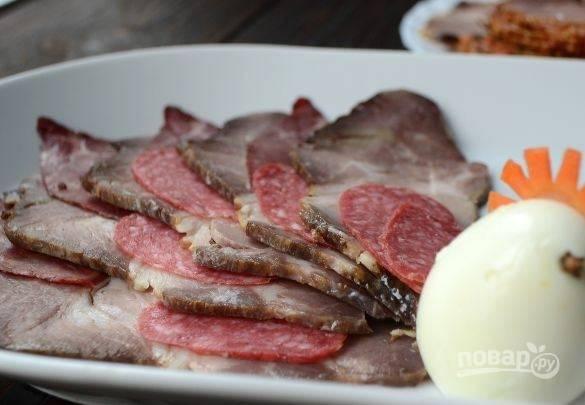 Мясное ассорти на Новый год - пошаговый рецепт