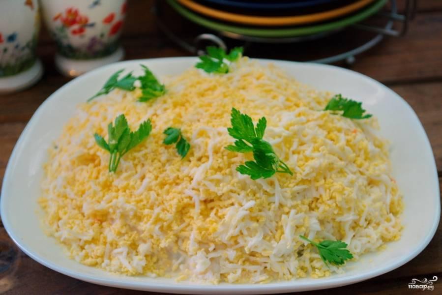 """Салат """"Марсель"""" с черносливом и корейской морковкой"""