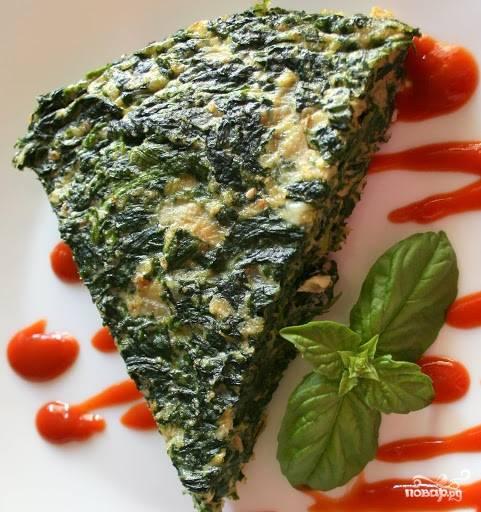 Омлет со шпинатом и сыром