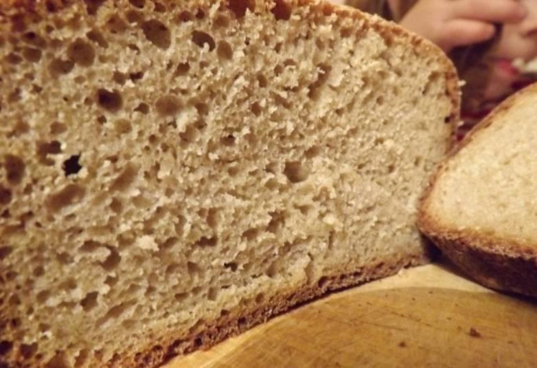 Хлеб из цельнозерновой муки без дрожжей - пошаговый рецепт с фото на