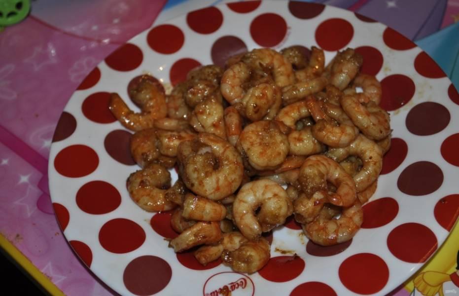 Креветки под соусом - Терияки - пошаговый рецепт