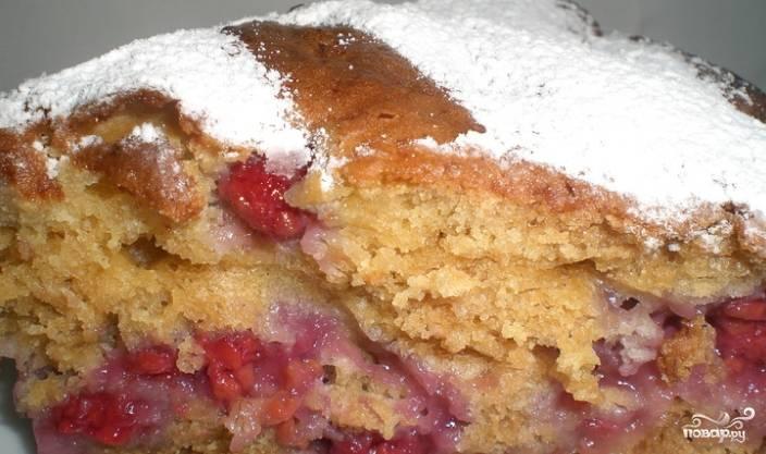Пирог с замороженными фруктами в духовке