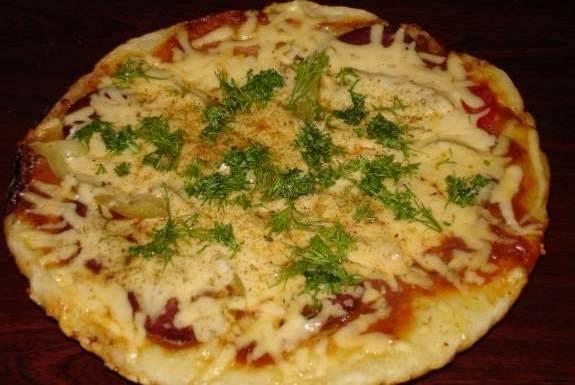 Пицца за 5 минут - пошаговый рецепт