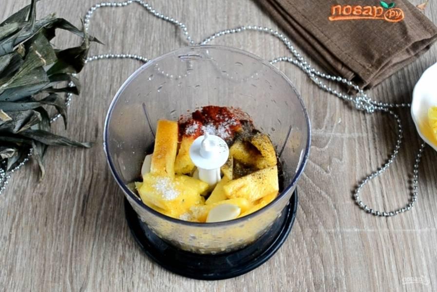 Курица, запеченная с ананасами - пошаговый рецепт с фото на