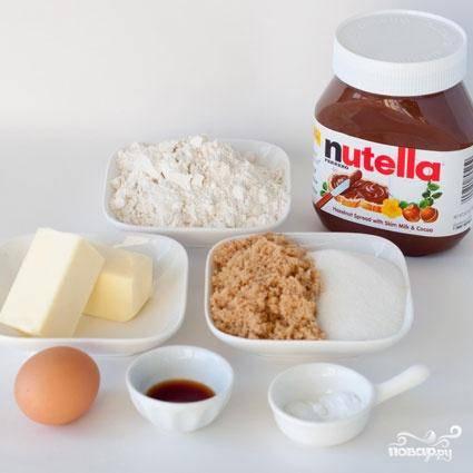 Печенье с Нутеллой и кремом - пошаговый рецепт