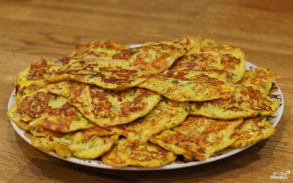 Блинчики из кабачков с сыром