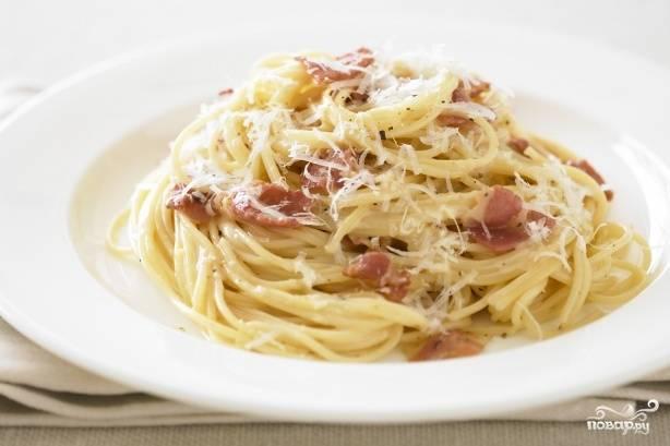 Спагетти карбонара в мультиварке