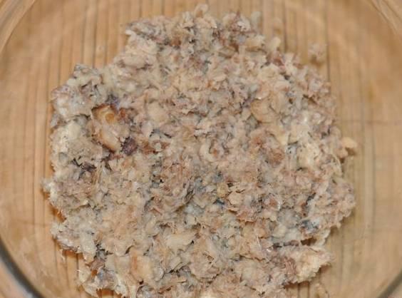 Мимоза - с маслом и сыром - пошаговый рецепт