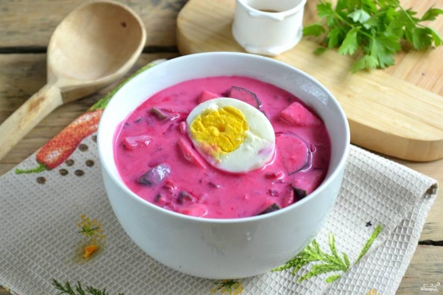 Свекольник классический холодный - пошаговый рецепт