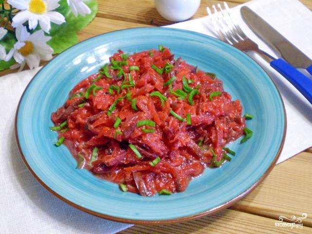 Овощное рагу к макаронам