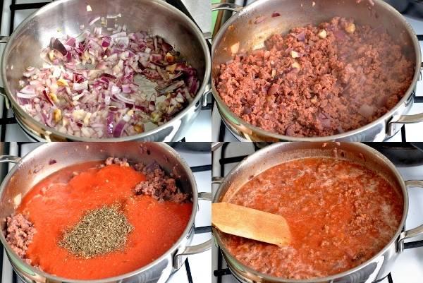 Лазанья болоньезе с соусом бешамель - пошаговый рецепт