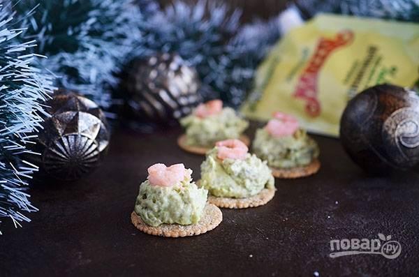 Крекеры с кремом из авокадо