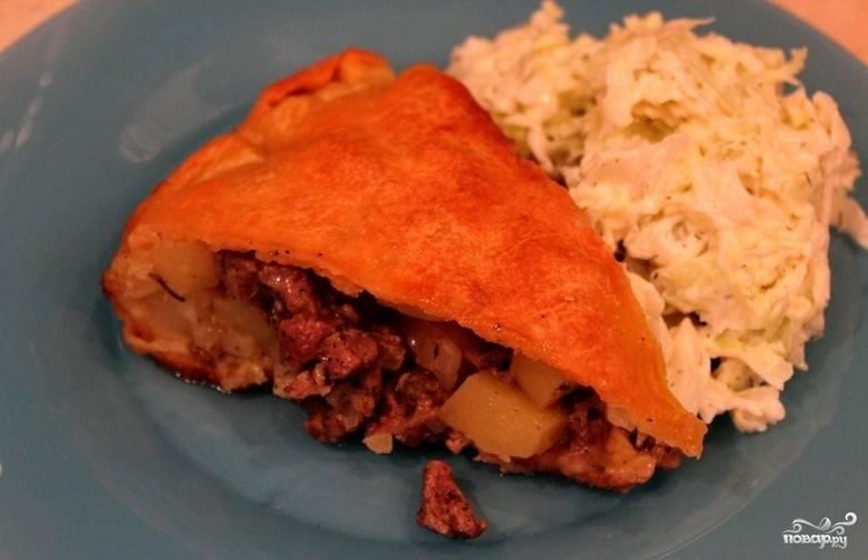 Пирог с бараниной и картошкой