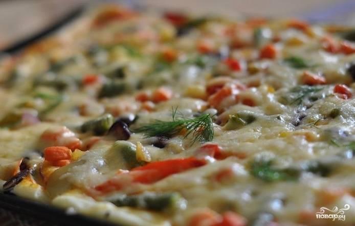 """Пицца """"Минутка"""" в духовке"""