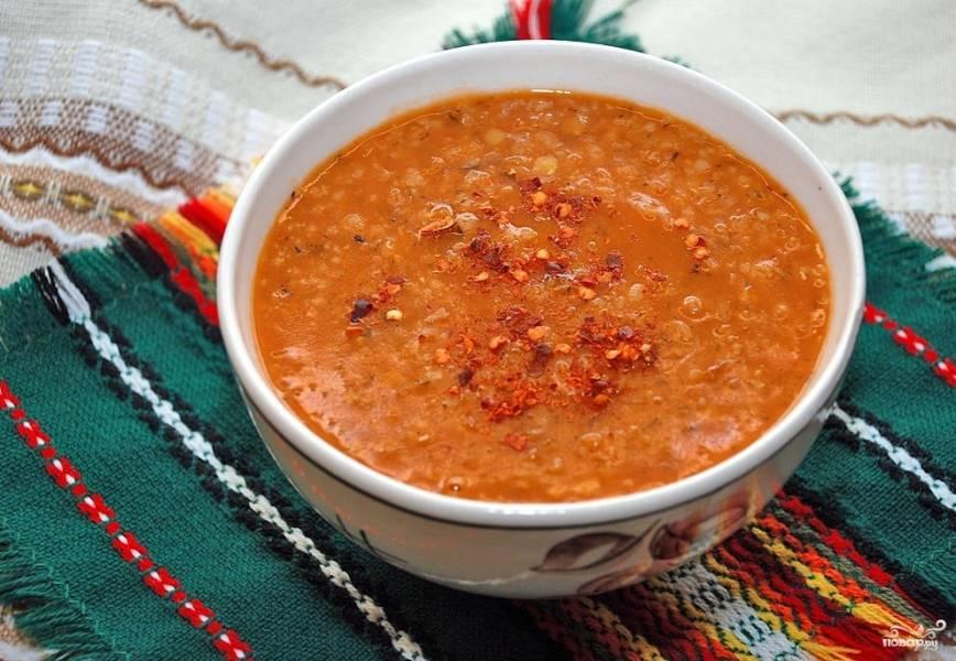 чечевичный суп пюре с мясом рецепт
